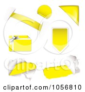 Royalty Free Vector Clip Art Illustration Of A Digital Collage Of Yellow Design Elements by michaeltravers