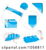 Royalty Free Vector Clip Art Illustration Of A Digital Collage Of Light Blue Design Elements by michaeltravers