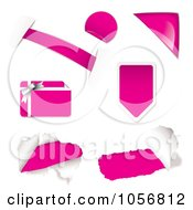 Royalty Free Vector Clip Art Illustration Of A Digital Collage Of Pink Design Elements by michaeltravers