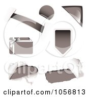 Royalty Free Vector Clip Art Illustration Of A Digital Collage Of Gray Design Elements by michaeltravers