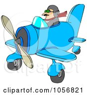 Royalty Free Vector Clip Art Illustration Of A Pilot Flying A Little Plane by djart