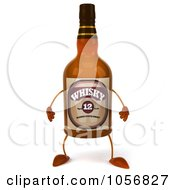 Royalty Free CGI Clip Art Illustration Of A 3d Whisky Bottle Character by Julos