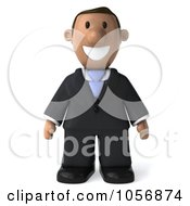 3d Indian Businessman Facing Front