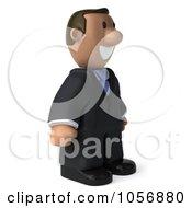 3d Indian Businessman Facing Right