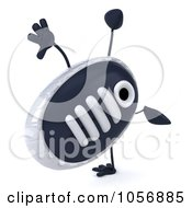Royalty Free CGI Clip Art Illustration Of A 3d Sneaker Shoe Character Doing A Cartwheel