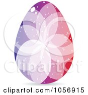 Royalty Free Vector Clip Art Illustration Of A Colorful Crystal Floral Easter Egg 1