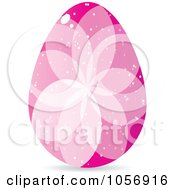 Royalty Free Vector Clip Art Illustration Of A Pink Crystal Floral Easter Egg by Andrei Marincas
