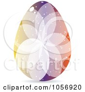 Royalty Free Vector Clip Art Illustration Of A Colorful Crystal Floral Easter Egg 4