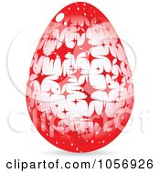 Royalty Free Vector Clip Art Illustration Of A Red Sparkle Easter Egg by Andrei Marincas