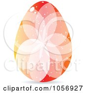 Royalty Free Vector Clip Art Illustration Of A Colorful Crystal Floral Easter Egg 2