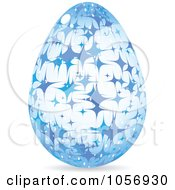 Royalty Free Vector Clip Art Illustration Of A Blue Sparkle Easter Egg by Andrei Marincas