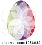 Royalty Free Vector Clip Art Illustration Of A Colorful Crystal Floral Easter Egg 3