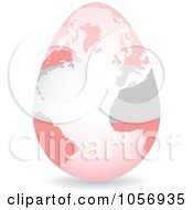 Royalty Free Vector Clip Art Illustration Of A 3d Austrian Flag Egg Globe With A Shadow by Andrei Marincas