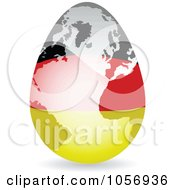 Royalty Free Vector Clip Art Illustration Of A 3d German Flag Egg Globe With A Shadow by Andrei Marincas