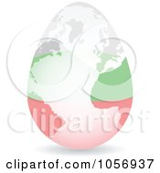 Royalty Free Vector Clip Art Illustration Of A 3d Bulgarian Flag Egg Globe With A Shadow by Andrei Marincas