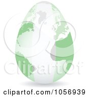Royalty Free Vector Clip Art Illustration Of A 3d Nigerian Flag Egg Globe With A Shadow by Andrei Marincas
