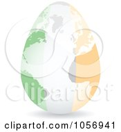 Royalty Free Vector Clip Art Illustration Of A 3d Irish Flag Egg Globe With A Shadow by Andrei Marincas