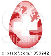 Royalty Free Vector Clip Art Illustration Of A 3d Swiss Flag Egg Globe With A Shadow by Andrei Marincas