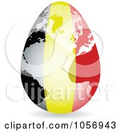 Royalty Free Vector Clip Art Illustration Of A 3d Belgium Flag Egg Globe With A Shadow by Andrei Marincas
