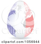 Royalty Free Vector Clip Art Illustration Of A 3d French Flag Egg Globe With A Shadow by Andrei Marincas