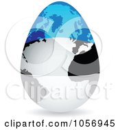 Royalty Free Vector Clip Art Illustration Of A 3d Estonian Flag Egg Globe With A Shadow