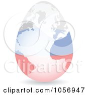 Royalty Free Vector Clip Art Illustration Of A 3d Russian Flag Egg Globe With A Shadow by Andrei Marincas