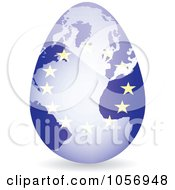 Royalty Free Vector Clip Art Illustration Of A 3d European Flag Egg Globe With A Shadow by Andrei Marincas
