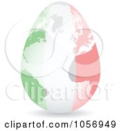 Royalty Free Vector Clip Art Illustration Of A 3d Italian Flag Egg Globe With A Shadow by Andrei Marincas