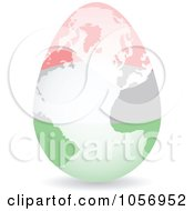 Royalty Free Vector Clip Art Illustration Of A 3d Hungarian Flag Egg Globe With A Shadow by Andrei Marincas