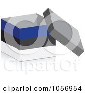 Royalty Free Vector Clip Art Illustration Of A 3d Open Estonian Flag Box With A Shadow