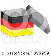 Royalty Free Vector Clip Art Illustration Of A 3d Open German Flag Box With A Shadow by Andrei Marincas