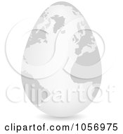 Royalty Free Vector Clip Art Illustration Of A 3d White Egg Globe With A Shadow by Andrei Marincas
