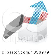 Royalty Free Vector Clip Art Illustration Of A Dot Arrow Pointing Up From A 3d Box by Andrei Marincas