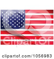 Royalty Free Vector Clip Art Illustration Of An American Flag Made Of Dots