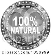 Royalty Free Vector Clip Art Illustration Of A Grayscale Natural Guarantee Circle by Andrei Marincas