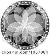 Royalty Free Vector Clip Art Illustration Of A Grayscale Floral Medallion by Andrei Marincas