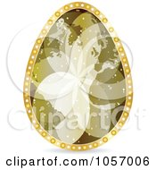 Royalty Free Vector Clip Art Illustration Of A Golden World Map Easter Egg by Andrei Marincas