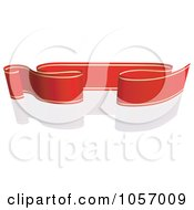 Royalty Free Vector Clip Art Illustration Of A Ribbon Banner In Red And Gold With A Reflection 5