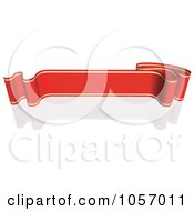 Royalty Free Vector Clip Art Illustration Of A Ribbon Banner In Red And Gold With A Reflection 8