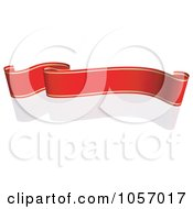 Royalty Free Vector Clip Art Illustration Of A Ribbon Banner In Red And Gold With A Reflection 2