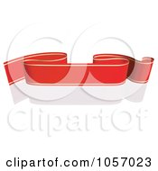 Royalty Free Vector Clip Art Illustration Of A Ribbon Banner In Red And Gold With A Reflection 4