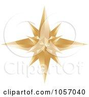 Golden Star Burst Icon