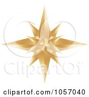 Royalty-Free Vector Clip Art Illustration of a Golden Star Burst Icon by Alexia Lougiaki #COLLC1057040-0043
