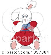Stuffed Female Bunny Rabbit In A Red Dress