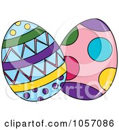Two Patterned Easter Eggs