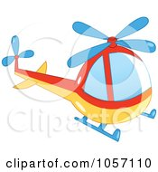Blue Red And Yellow Helicopter