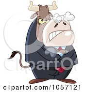 Royalty Free Vector Clip Art Illustration Of A Mean Business Bull by yayayoyo