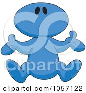 Royalty Free Vector Clip Art Illustration Of A Blue Toon Guy Falling by yayayoyo