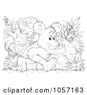 Royalty Free Clip Art Illustration Of A Coloring Page Outline Of A Mouse