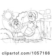 Coloring Page Outline Of Red Riding Hood And Granny